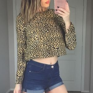 Zara Animal Print Crop Top Size XS
